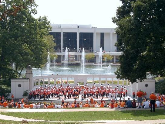 Clemson band at Library.jpg